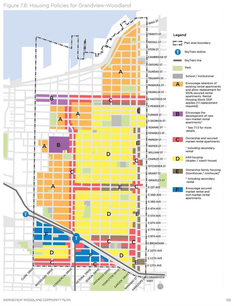 Grandview-Woodland Community Plan Map
